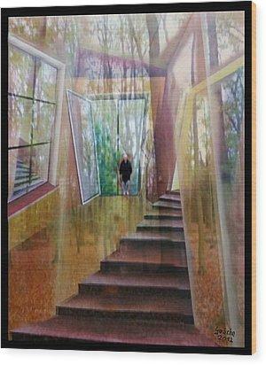 und hol mir den Herbst ins Haus Wood Print by Gertrude Scheffler