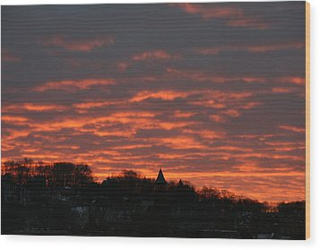 Under A Blood Red Sky Wood Print by Neal Eslinger
