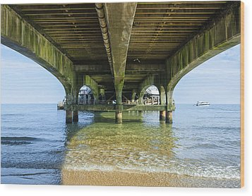 Under A Pier Wood Print by Svetlana Sewell