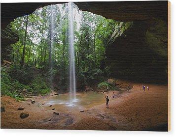 Under Ash Cave Wood Print by Haren Images- Kriss Haren