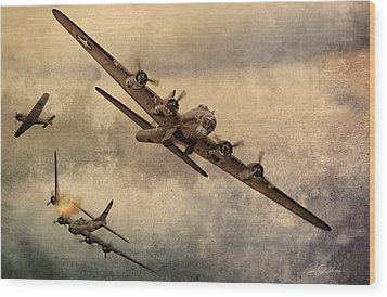 Under Attack Wood Print by Peter Chilelli