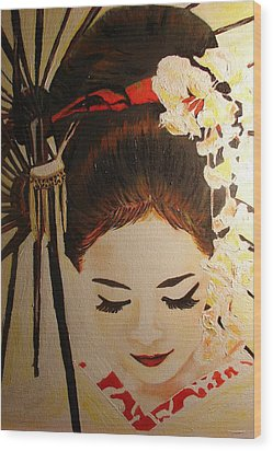Under Cover Girl Wood Print by Lorinda Fore