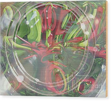 Under Glass Wood Print by Kathie Chicoine