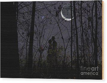 Under Moon Wood Print