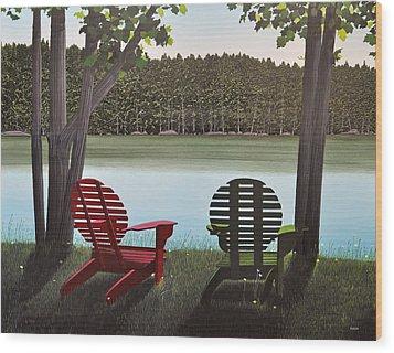 Under Muskoka Trees Wood Print