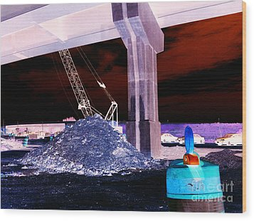 Under Pass Inverted Wood Print by Jamie Lynn