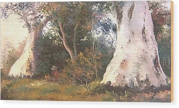 Under The Ancient Gum Tees Wood Print by Jan Matson