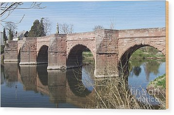 Wood Print featuring the photograph Under The Arches by Tracey Williams