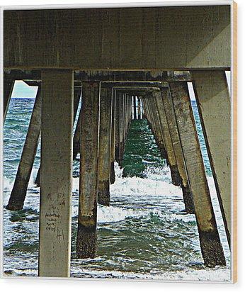 Under The Boardwalk  Wood Print by Dianne  Lacourciere