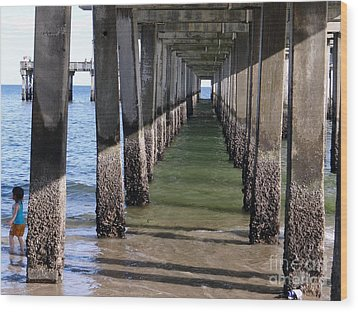 Under The Boardwalk Wood Print by Ed Weidman