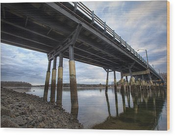 Under The Bridge Wood Print by Eric Gendron