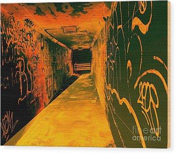 Under The Bridge Wood Print by Ze DaLuz