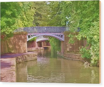 Under The Bridges Wood Print by Paul Gulliver