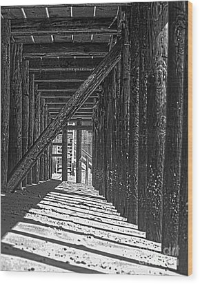 Wood Print featuring the photograph Under The Deck by Sebastian Mathews Szewczyk