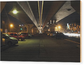 Under The Flyover  Wood Print by Sumit Mehndiratta