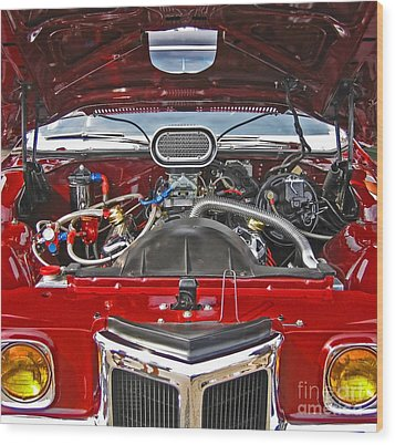 Under The Hood Wood Print by Ann Horn