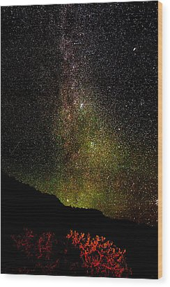 Under The Milky Way Wood Print by Greg Norrell