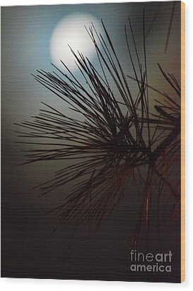 Under The Moon II Wood Print by Maria Urso