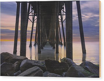 Under The Oceanside Pier Wood Print by Larry Marshall