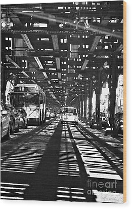 Under The One Train In The Bronx Wood Print