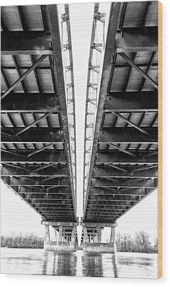 Under The Page Bridge Wood Print by Bill Tiepelman