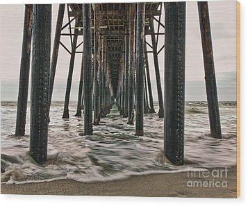 Under The Pier Wood Print by Eddie Yerkish