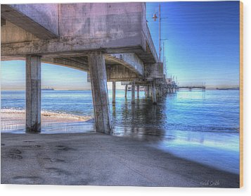 Under The Pier Wood Print by Heidi Smith