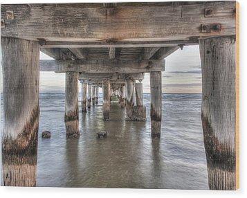 Under The Pier Wood Print by Shari Mattox