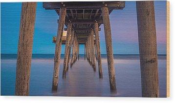 Under The Pier - Wide Version Wood Print