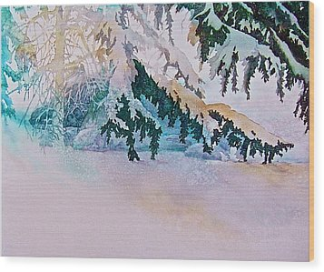 Under The Pines Wood Print by Carolyn Rosenberger