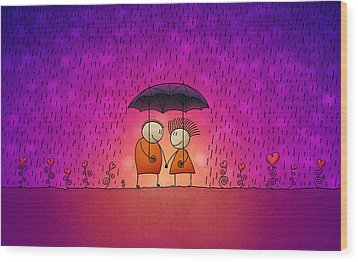 Under The Rain Wood Print by Gianfranco Weiss
