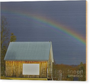 Wood Print featuring the photograph Under The Rainbow by Alice Mainville