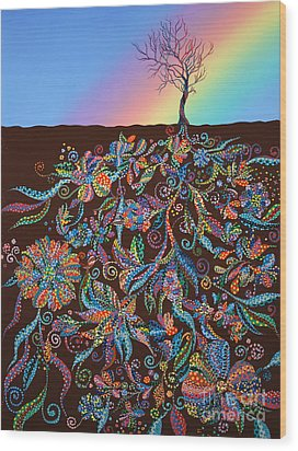 Under The Rainbow Wood Print