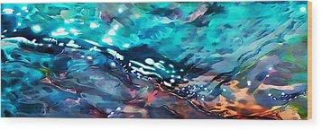 Under The Rocks Panoramic Wood Print by Terril Heilman