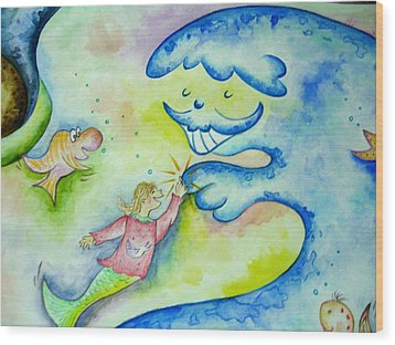 Under The Sea -2 Wood Print by Asida Cheng