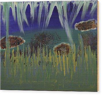 Under The Sea Wood Print by Donna Guzman