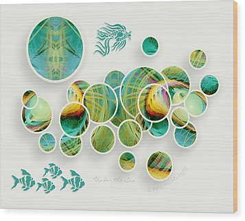 Under The Sea Wood Print by Gayle Odsather
