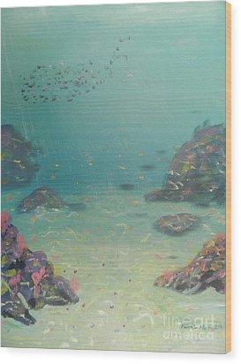 Under The Sea Wood Print by Pamela  Meredith