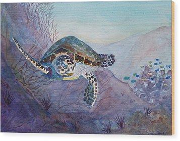 Under The Sea Wood Print by Teri  Jones