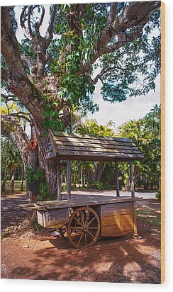 Under The Shadow Of The Tree. Eureka. Mauritius Wood Print by Jenny Rainbow