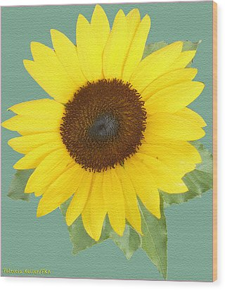Under The Sunflower's Spell Wood Print by Patricia Keller