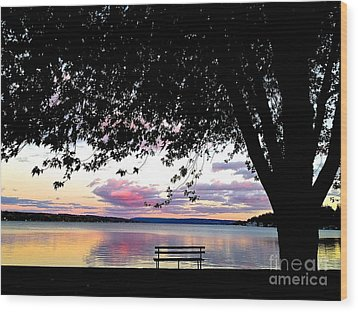 Wood Print featuring the photograph Under The Tree by Margie Amberge