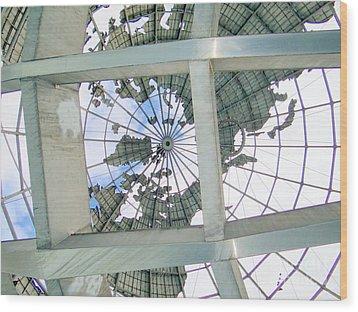 Under The Unisphere Wood Print by Ed Weidman