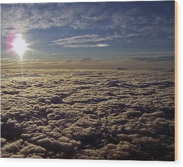 Wood Print featuring the photograph Undercast And Sun by Greg Reed