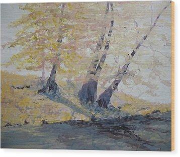 Undercut Bank Wood Print by Dwayne Gresham