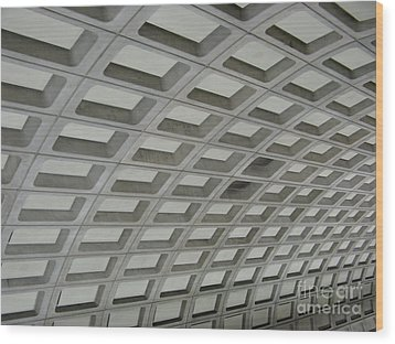 Underground. Washington Dc. Usa Wood Print