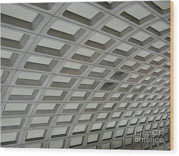 Underground. Washington Dc. Usa Wood Print by Ausra Huntington nee Paulauskaite