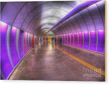 Underground Colors Wood Print by Will Cardoso