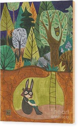 Underground Wood Print by Kate Cosgrove
