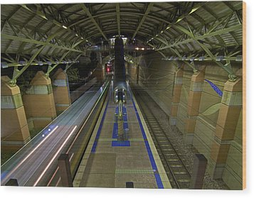 Wood Print featuring the photograph Underground Transit by John Babis